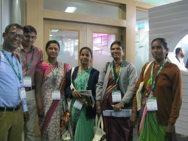 Joy Daniel with me and group of Indian women farmers from the Institute for Rural Development PGS