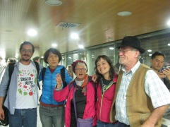 The officers of the new International Committee: Ariel Molina, Shi Yan Sina, Judith Hitchman, Isa Alvarez and Denis Carel.